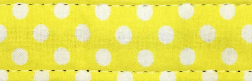 Spring Yellow Polk Dot Cotton