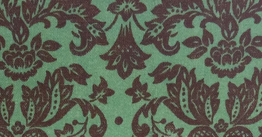 Choc/Mint Damask Cotton