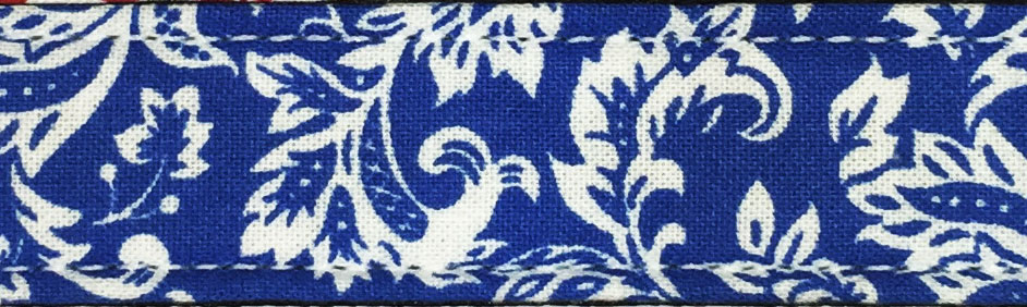 Blue Damask Cotton