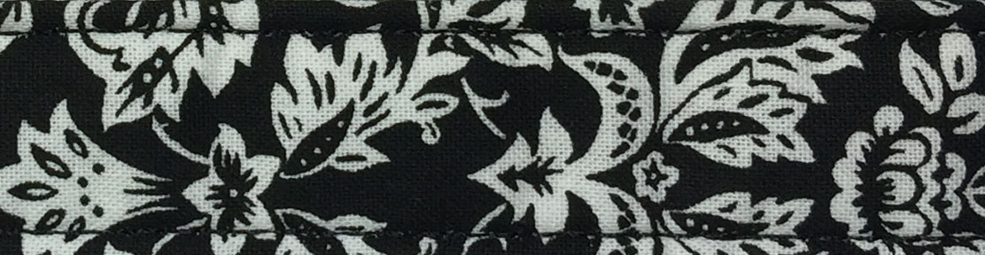 Black Damask Cotton