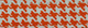 Orange Houndstooth Cotton